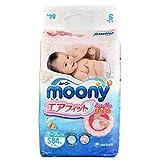 尤妮佳(Moony)纸尿裤 小号婴儿尿不湿 S84片(4-8kg)(官方进口)