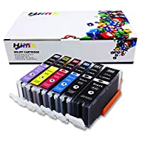 HIINK 兼容墨盒替換件 適用于佳能 PGI-280XXL CLI-281XXL 超高產量墨水適用于佳能 Pixma TS8120 TS9120(PGBlack Black 青色 洋紅色黃色照片藍色,6 件裝)
