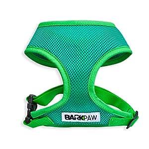 barkpaw bphns001正品拉伸软狗狗胸背带 绿色 小号