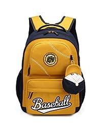 Fanci 棒球风格防水轻量级男生学生背包基本书包