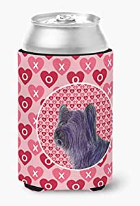 Caroline's Treasures SS4463-Parent Skye Terrier Hearts Love and Valentine's Day Portrait 超饮料隔热器适用于纤薄罐 SS4463MUK,多色 多种颜色 Can Hugger SS4463CC