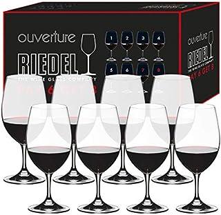 丽德尔(RIEDEL) 红酒杯 透明 530ml 椭圆杯 7408/90 8个装