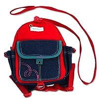 带皮带的学步背包让您的孩子赶走! 学龄前儿童*胸背袋! 保持儿童护理必备品! 非常适合男孩和女孩成为大童! 红色