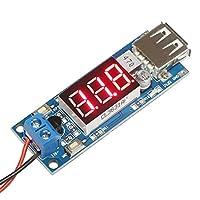 ARCELI DC-DC Buck 恒定电压转换器 4.5V-40V 至 5V 2A USB 输出电压计*模块,适用于 DIY USB 充电板,电压计监视器,电压转换器