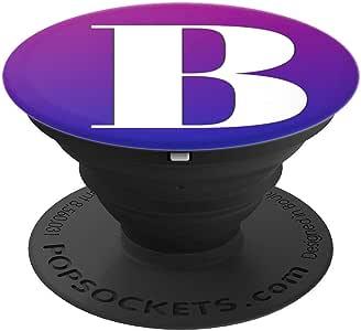 银白色字母 B 手机首字母抓握紫色蓝色 PopSockets 手机和平板电脑握架260027  黑色