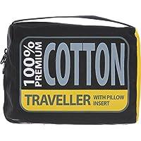 Premium Cotton Travel Liner - Traveller (with Pillow slip) Navy Blue