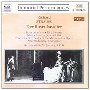 进口CD:歌剧《玫瑰骑士》全剧等 Strauss,R.:Rosenkavalier(Der)(Lehmann Stevens)(1939)(3CD)8.110034-36