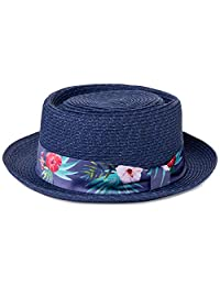 Jeff & Aimy 夏季草软呢帽巴拿马海滩遮阳帽,可收纳 56-62 厘米,3 个可调节尺寸