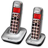 amplicomms BigTel 电话机 银白色 Duo BT1202