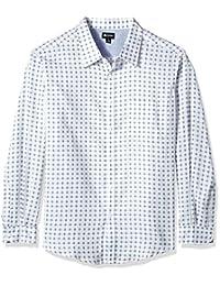 Haggar 男式 BIG and TALL 长袖 tuckless 衬衫