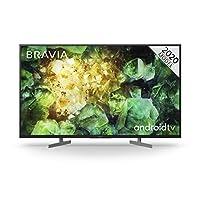 Sony 索尼 BRAVIA - LED - 4K超高清 - 高動態范圍(HDR) - 智能電視(Android TV) - 帶語音遙控器 - (黑色,2020型號) 43 Inch KD43XH8196PBU