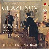 进口CD:优雅弦乐四重奏4 Glasunov:String Quartets 4(CD)60312392