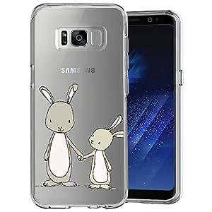 女孩阅读书画透明手机壳三星 Galaxy S8 定制设计 MERVELLE TPU 透明防震保护套【超薄,防滑】 Color-24