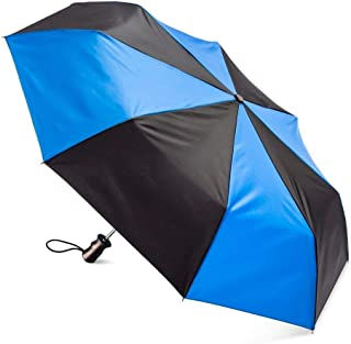Totes NeverWet 自动开合雨伞,47 英寸遮盖,Titan Max-Strength 皇家蓝和黑色