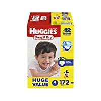 HUGGIES 好奇 Snug & Dry 舒适干爽纸尿裤 172 Count 4 号 172