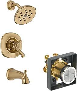 Delta KTSDAD-T17492-CZ-2 Addison Tub/Shower Kit 压力平衡双功能盒,香槟铜