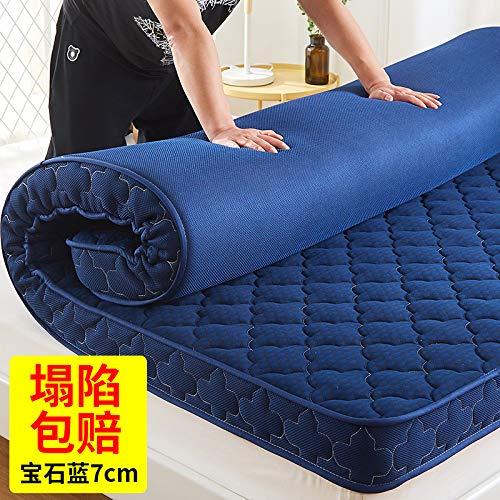水漾 加厚床垫1.8m1.5米记忆海绵褥子1.2学生宿舍榻榻米床褥垫子 宝石蓝-7cm 1.0m*2.0m(品牌保证、拒绝塌陷、填充升级)