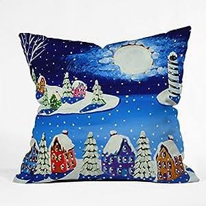 DENY Designs Renie Britenbucher Snowy Shoreline Throw Pillow, 26 x 26