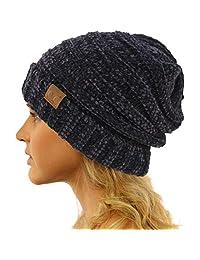 CC 冬季潮流温暖超大厚实宽松弹性随性骷髅帽