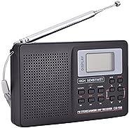 Bewinner AM FM便携式收音机迷你口袋收音机FM/AM/SW/LW/电视声音全频接收器接收收音机闹钟9 KHz MW 调节步骤,送给老年人的礼物 类型 2