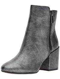 Kenneth Cole New York 女士 Rima 短靴,带双拉链粗跟皮靴