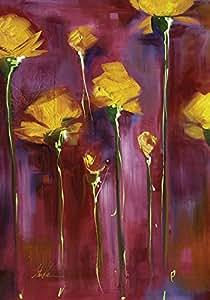 Toland Home Garden Festive Flowers Garden Flag Maroon/Yellow Garden-Small-12.5x18-Inch