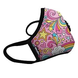 Vogmask N99CV 时尚成人/儿童防雾霾口罩/pm2.5防雾霾口罩Rainbows(彩虹乐园)1只 多色 M号 (7岁以上儿童/成年女性 51-130磅/23-58公斤)(进口)