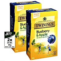 Twinings川宁牌果味茶包(蓝莓&苹果)40g(英国进口)