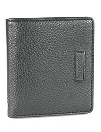 bugatti 男式 时尚休闲真皮钱包(可以放12个信用卡) 3151 黑色 均码(亚马逊进口直采,德国品牌)