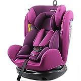 REEBABY 瑞贝乐 汽车儿童安全座椅 0-4-6-12岁婴儿宝宝新生儿可躺 906安全带版紫色(供应商直送)