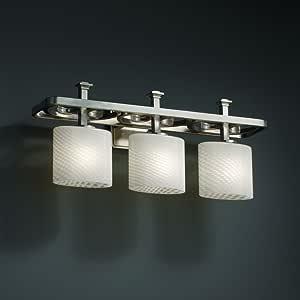 Justice Design Group FSN-8563-15-MROR-NCKL 融合系列Arcadia 3 灯浴杆