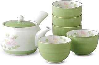 仅限热水时尚:有田烧 若草山茶花 茶壶茶具 套装 Japanese Tea set(Tea pot x1pcs/Cup x5pcs) Porcelain/Size(cm) 17x14.5x9.5, Cup, Φ8.8x5.5/No:739074