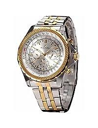 Ks Imperial Date 24 小时自动机械男士不锈钢表带腕表