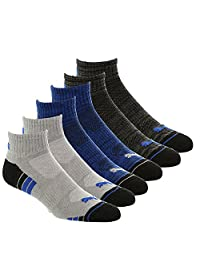 Puma Socks Men's Quarter Cut Socks (Pack of 6)