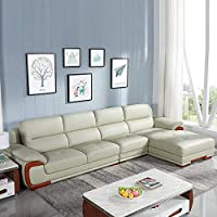 【下单赠价值998元真皮圆凳1个】左右 现代中式 真皮沙发组合 头层牛皮 大户型客厅组合沙发 DZY2606-1 转二件反向+休单(3+1+躺位)青灰色