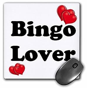 "3D 玫瑰哑光鼠标垫 - 8 x 8 Bingo Lover 8 x 8"""