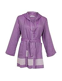 ESELBA Milano 舒适女式浴袍 紫色 L/XL