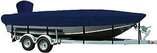 WINDSTORM by Eevelle V-Hull 钓鱼船罩适用于户外电机,16 英尺 6 英寸 x 76 英寸,*蓝