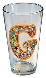 ICUP Nickelodeon - Nick 90s Monogram 453.59 克透明玻璃,上面有字母 G