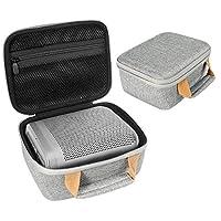 InGo 定制保护壳适用于 Bang & Olufsen Beoplay P6 便携式蓝牙音箱,*减震软泡沫垫,拉链网袋可装配件,特色撞色手柄
