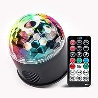 Sound Panda 声控派对灯,迪斯科球 RBG 闪光灯带遥控器和 9 种照明模式,适用于家庭派对、卡拉OK、舞厅、俱乐部、酒吧、氛围灯(带扬声器)