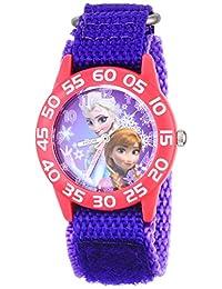 迪士尼女童 anna&elsa 塑料紫色手表