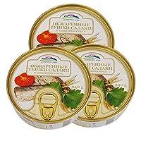 阿尔辰晞牌 番茄汁油炸鲱鱼罐头 240g*3罐 拉脱维亚原装进口 罐头 海味零食