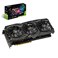 华硕 ROG Strix GeForce GTX 1660 Ti 6GB 超频版 VR Ready HDMI 2.0 DP 1.4 自动极限显卡 (STRIX-GTX1660TI-O6G-GAMING)
