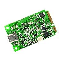 IO Crest Mini PCI-Express 2.0 至 USB 3.1 Type-C Gen 2 卡芯片 - 绿色