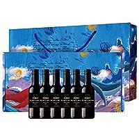 Ruoyufish 若虞 珍藏佳美娜干红葡萄酒 187.5ml*6 礼盒装(智利进口红酒)(亚马逊自营商品, 由供应商配送)