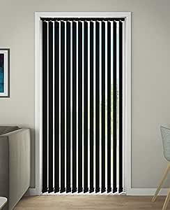 DEBEL 100 x 250 厘米 * 涤纶线垂直百叶窗,黑色_父色 黑色 150 x 250 cm 72180015