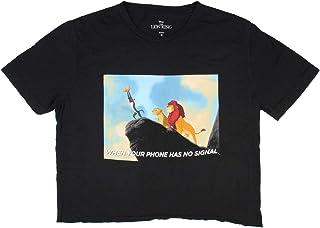 Disney The Lion King 青少年信号搜索模因图案露脐上衣 T 恤