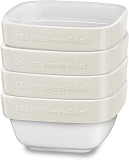 KitchenAid KBLR04RMAC 陶瓷 Ramekin 烤盤套裝,杏仁奶油