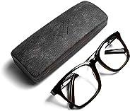 THL Sleep 蓝光阻隔眼镜 适用于专业日间使用 - 透明电脑滤镜 抗眼*镜片 超大(黑色)XL